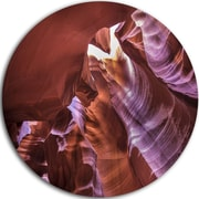 DesignArt 'Light in Antelope Canyon' Graphic Art Print on Metal; 11'' H x 11'' W x 1'' D