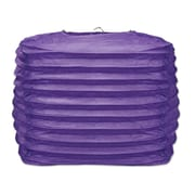 The Beistle Company Square Paper Lantern; Purple