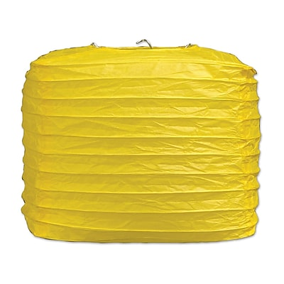 The Beistle Company Square Paper Lantern; Yellow WYF078280188224