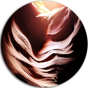 DesignArt 'Antelope Canyon in Brown Shade' Graphic Art Print on Metal; 11'' H x 11'' W x 1'' D