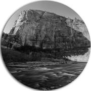 DesignArt 'Glow of Morning Dark' Photographic Print on Metal; 11'' H x 11'' W x 1'' D