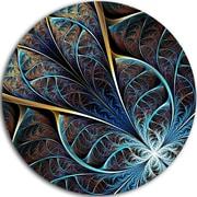 DesignArt 'Abstract Brown Fractal Flower' Graphic Art Print on Metal; 11'' H x 11'' W x 1'' D