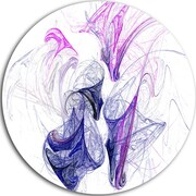 DesignArt 'Colored Smoke Purple' Graphic Art Print on Metal; 11'' H x 11'' W x 1'' D