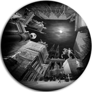DesignArt Landscape Large Disc 'Vienna Top View Collage' Photographic Print on Metal