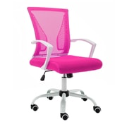 Vandue Corporation Mid-Back Office Chair; White/Pink