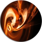 DesignArt 'Fractal Smoke Texture Brown' Graphic Art Print on Metal; 11'' H x 11'' W x 1'' D