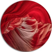 DesignArt 'Red Shade in Antelope Canyon' Photographic Print on Metal; 11'' H x 11'' W x 1'' D