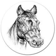 DesignArt Freehand Horse Head Pencil Drawing Print on Metal; 11'' H x 11'' W x 1'' D