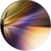 DesignArt 'Rays of Speed Purple Brown' Graphic Art Print on Metal; 11'' H x 11'' W x 1'' D