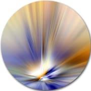 DesignArt 'Brown Focus Light Upward' Graphic Art Print on Metal; 11'' H x 11'' W x 1'' D