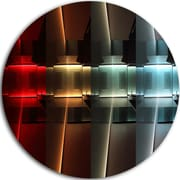 DesignArt 'Kitchen w/ LED Lighting' Graphic Art Print on Metal; 11'' H x 11'' W x 1'' D