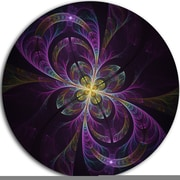 DesignArt Purple Abstract Floral Shapes Graphic Art Print on Metal; 11'' H x 11'' W x 1'' D