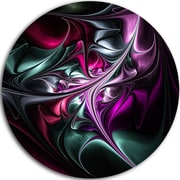 DesignArt Multicolored Abstract Floral Shapes Graphic Art Print on Metal; 11'' H x 11'' W x 1'' D