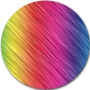 DesignArt 'Multi-Color Neon Glowing Lines' Graphic Art Print on Metal; 11'' H x 11'' W x 1'' D