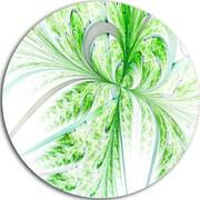 DesignArt 'Green Grungy Floral Fractal Shapes' Graphic Art Print on Metal; 11'' H x 11'' W x 1'' D