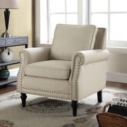 Container Upholstery Arm Chair; Beige