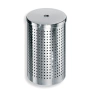 WS Bath Collections Complements Waste Basket w/ Lid; Stainless Steel