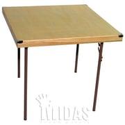 Midas Event Supply Square Folding Table; 34'' x 34''