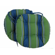 Blazing Needles Outdoor Patio Chair Cushion (Set of 2); Rolling Mead Veranda Cosmo