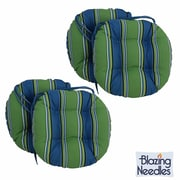 Blazing Needles Outdoor Patio Chair Cushion (Set of 4); Rolling Mead Veranda Cosmo