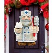 G Debrekht Tooth Fairy Santa Dentist Door Hanger
