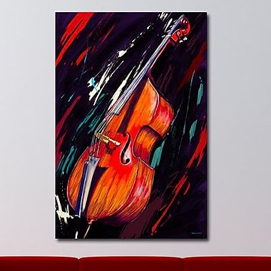 Maxwell Dickson ''Double Bass'' Graphic Art on Canvas; 16'' H x 20'' W