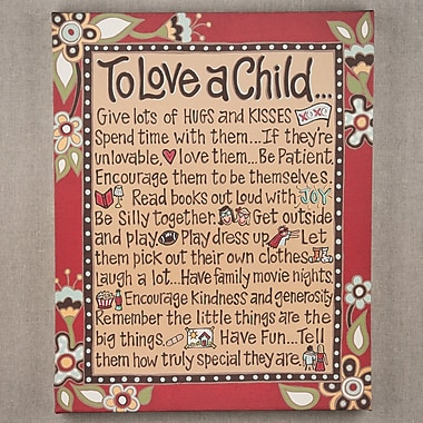 Glory Haus To Love A Child Painting on Canvas