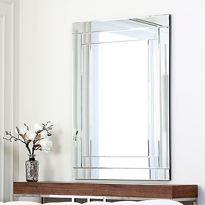 Darby Home Co Rectangle Silver Wall Mirror