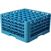 "Carlisle  OptiClean™ 36 Compartment Glass Rack with 4 Extenders, 10.3"", Carlisle Blue (RG36-414)"
