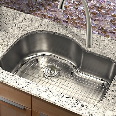 Nantucket Sinks Sconset 31.5'' x 21'' New Moby Single Bowl Stainless Steel Kitchen Sink