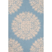 Charlton Home Norton Polyester Blue Hand Tufted Area Rug; 5' x 7'6 inch  by