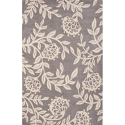 Charlton Home Norton Polyester Hand Tufted Gray Area Rug; 2' x 3' by