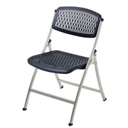 Mity Lite Flex One Folding Chair (Set of 4); Black and Silver