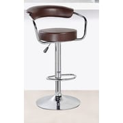 United Chair Industries LLC Adjustable Height Swivel Bar Stool; Brown