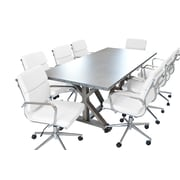 SolisPatio Armis 7' Table w/ Chairs 9-piece Conference Set