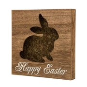 Glitzhome Handcrafted Die-Cut Bunny Table Decor