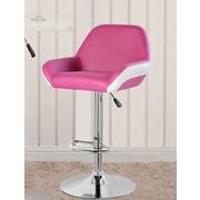United Chair Industries LLC 25'' Swivel Bar Stool; Purple/Red/White