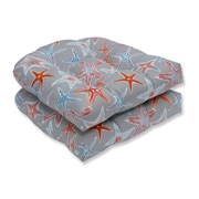 Pillow Perfect Stars Collide Wicker Outdoor Rocking Chair Cushion (Set of 2)