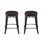 Ace Casual Furniture Quinn 24'' Bar Stool (Set of 2)
