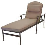 Darlee Florence 3 Piece Chaise Lounge Set w/ Cushions; Mocha