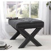 Inspired Home Co. Lovell Bedroom Bench; Dark Gray