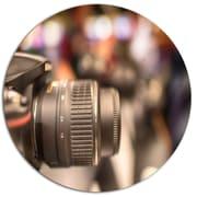 DesignArt Designart 'Modern Camera in City Electronics Shop' Photographic Print on Metal