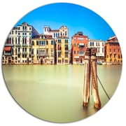 DesignArt 'Traditional Buildings of Venice' Photographic Print on Metal; 11'' H x 11'' W x 1'' D