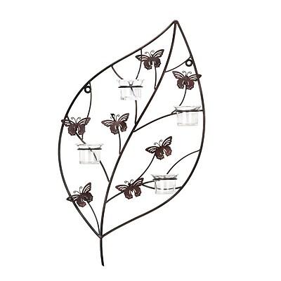 Zingz & Thingz Butterflies Leaf Metal Wall