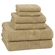 Anew Edit Turkish Cotton 6 Piece Towel Set; Almond