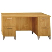 "Bush Furniture Somerset 59.29"" x 29.53""D x 29.11"" Office Desk, Maple Cross (WC81428K)"