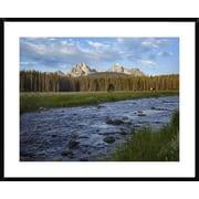 Sawtooth Range and Stanley Lake Creek, Idaho by Tim Fitzharris Framed Photographic Print