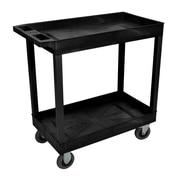 Offex 2 Tub Utility Cart; Black