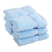 Anew Edit Cotton Washcloth (Set of 6); Light Blue