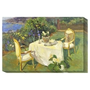 Global Gallery 'Formal Tea Party' by Allayn Stevens Painting Print on Canvas; 24'' H x 36'' W